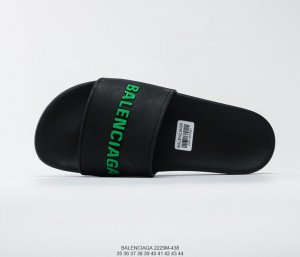 balenciaga Logo Pool Slides Couple