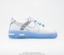 nike Air Force 1 React D Ms X White Light Sail Rush Ice 3 Couple{Cq8879}